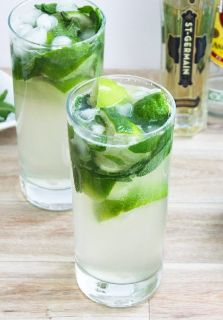 Rum Cocktail Idea - Mojito Elderflower Cocktail