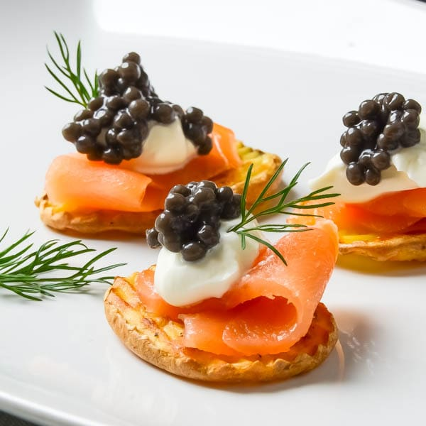 Elegant Smoked Salmon Appetizer with Caviar Idea - Smoked Salmon Appetizers for Your Next Wine Tasting Party