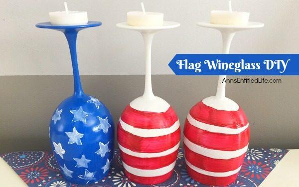 Flag Wineglass DIY