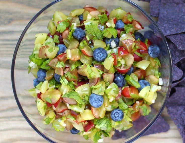 Grape and Blueberry Fruit Salsa