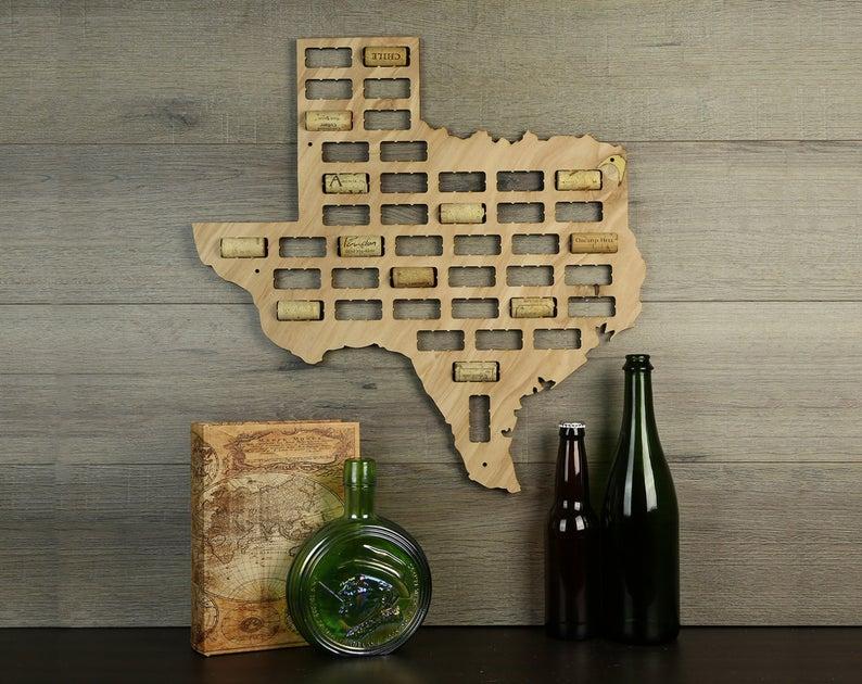 texas wine cork holder