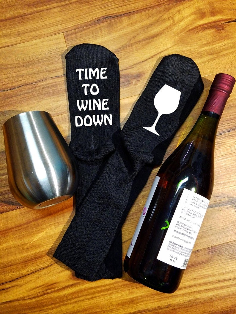 Time to wine down socks