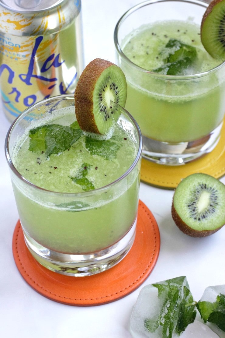 Virgin #Mocktails and Non-Alcoholic Cocktails | Kiwi fruit drinks with La Croix