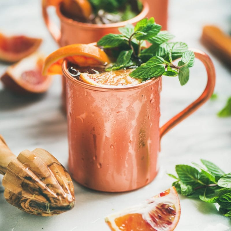 Blood Orange Pomegranate Syrup Moscow Mule