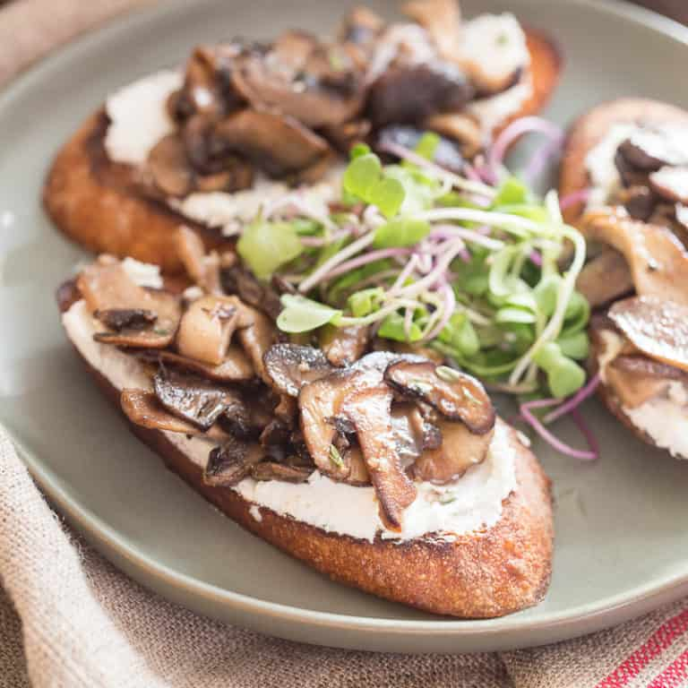 Mushroom Dishes to Pair with Pinot Noir - Mushroom Toast with Goat Cheese
