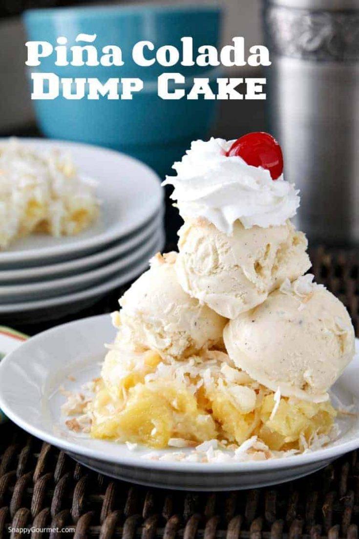 Piña Colada Dump Cake Recipe (Pineapple Dump Cake)