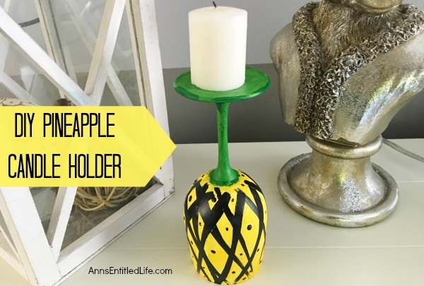 DIY Pineapple Candle Holder