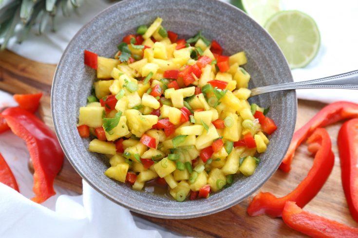 Pineapple Salsa - 10 Minute Fresh Fruit Salsa Recipe!