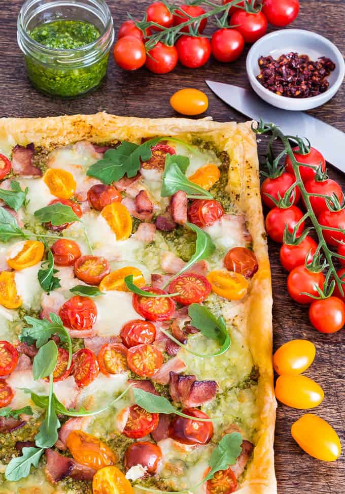 Tomato Based Dishes To Pair With Chianti - Quick Bacon Tomato Tart