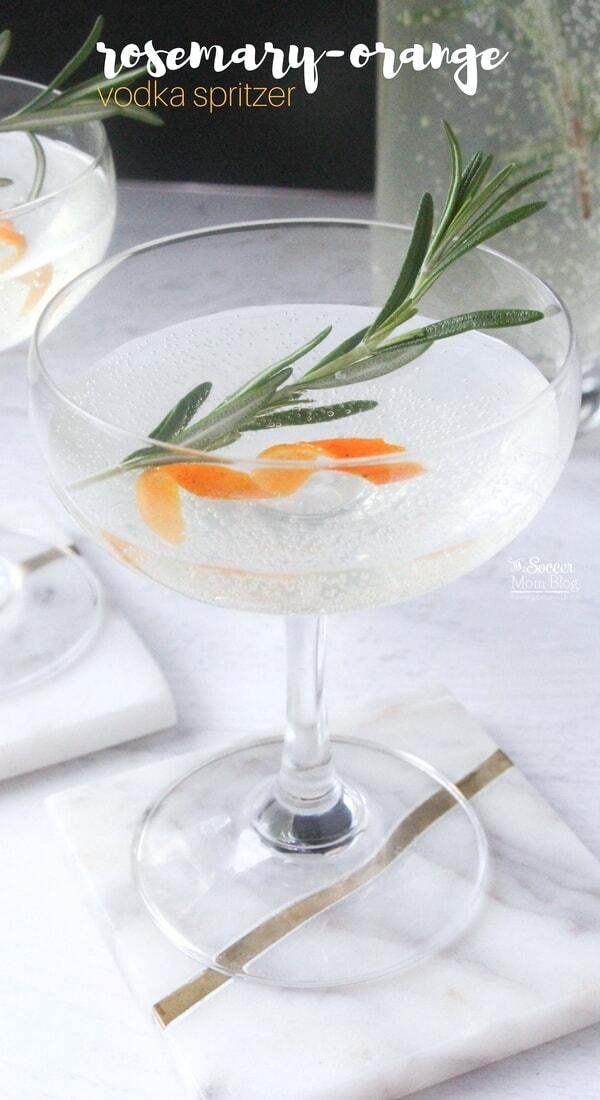 Rosemary Orange Vodka Spritzer