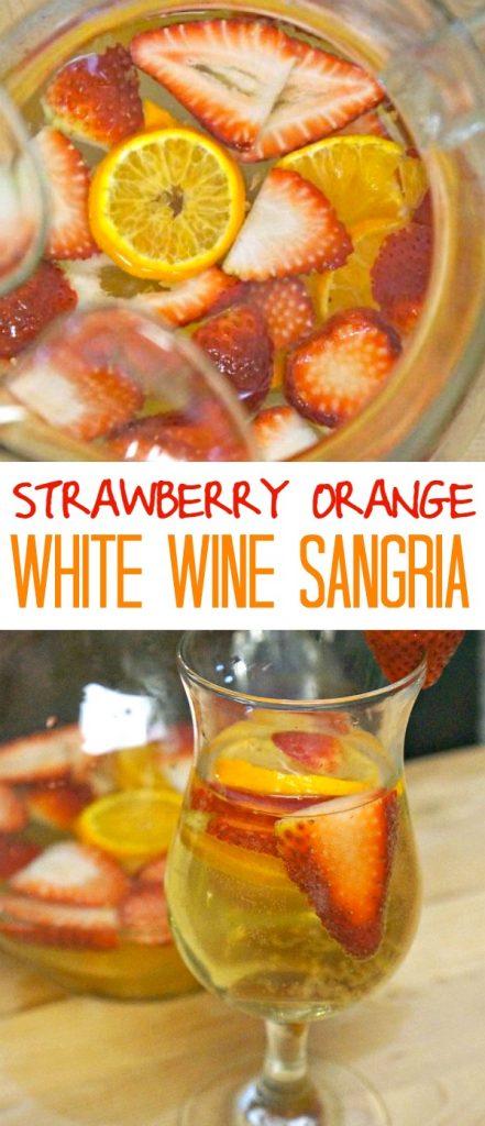 Strawberry and Orange White Sangria