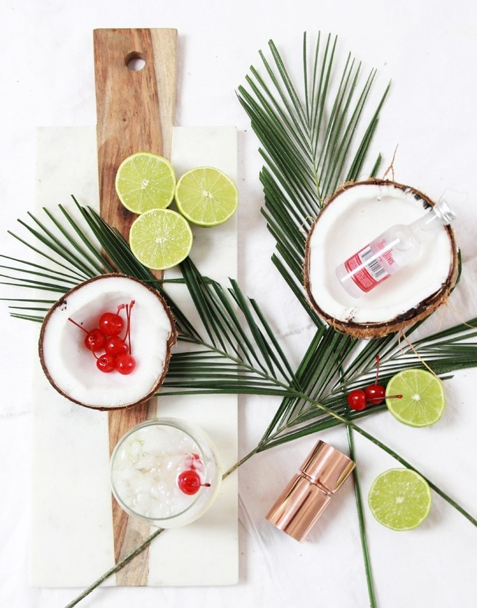 Coconut Lime Cherry Vodka Cocktail
