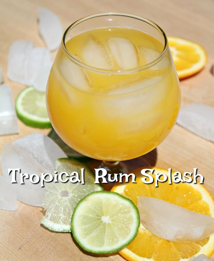 Rum Cocktail Idea - Tropical Rum Splash