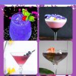 Purple Cocktails   Purple Drinks   Violet Cocktail Mixes   Purple Beverages   Colorful Cocktails   #violet #purple #cocktails #recipes #purpletheme