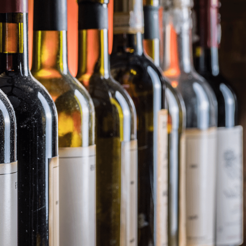 The Living Room Wine Café & Lounge bottles of wine on a shelf