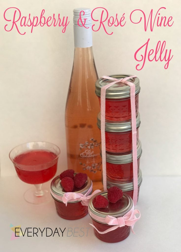 Delicious Jelly Recipes For Your Cheese Board - Raspberry and Rose Wine Jelly Recipe