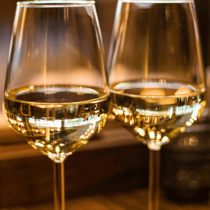 Two glasses of wine in a tasting room in Arizona