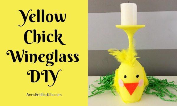 Yellow Chick Wineglass DIY